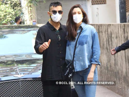 New parents Virat Kohli and Anushka Sharma make their first public appearance after welcoming their baby